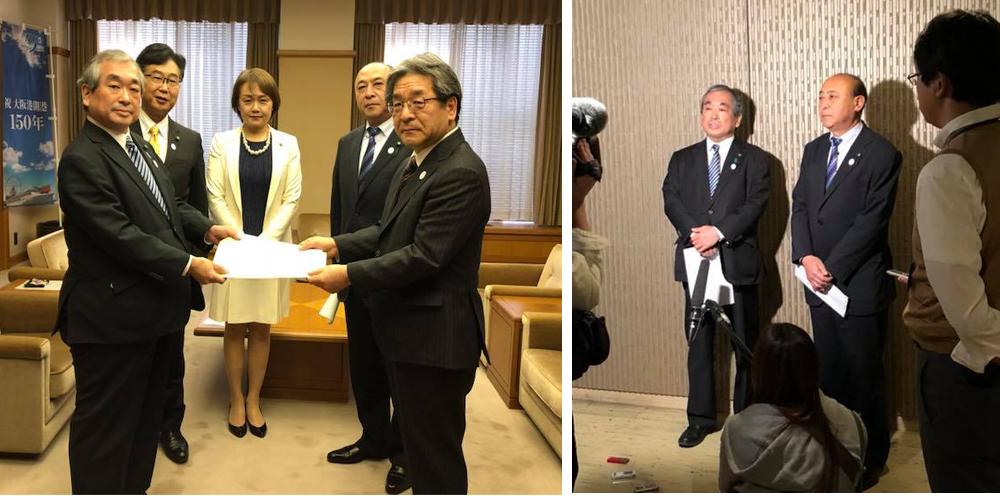 住宅宿泊事業法の施行に伴う大阪市条例修正の申し入れをしました。
